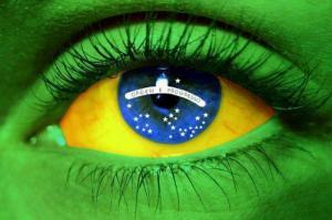 Brazil Flag Eye Image